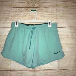 🎃Nike dri fit small teal and green workout shorts